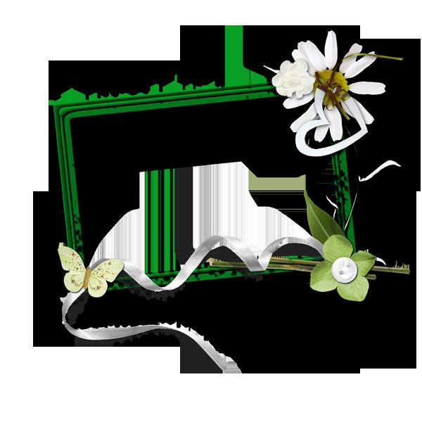 《浪漫花边框》png免抠图素材