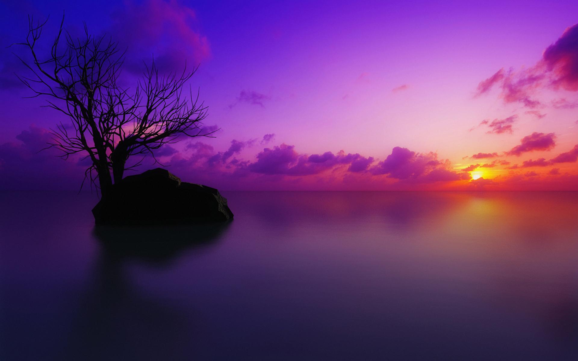 唯美风景夕阳高清壁纸 - 图片素材 - 华声论坛