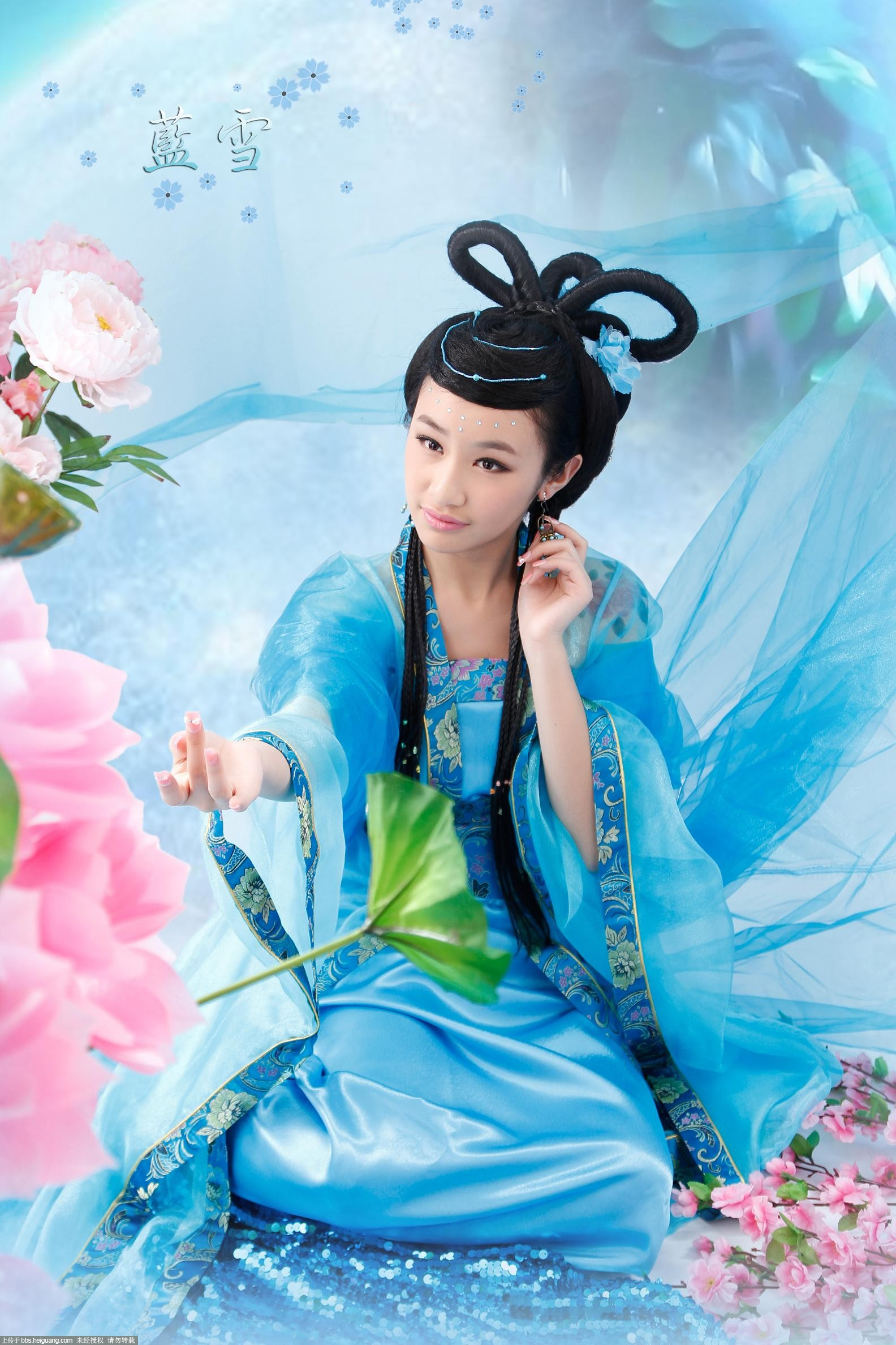 【古韵】蓝雪 - 图片素材 - 华声论坛