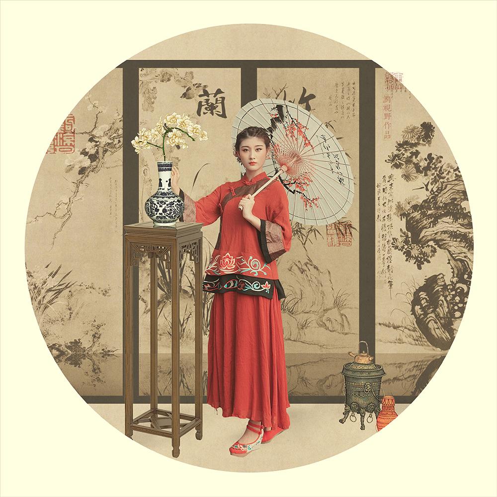 【古风素材】油纸伞